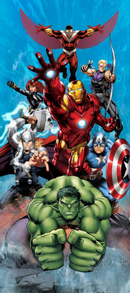 Marvel Avengers mural wallpaper 90x202cm